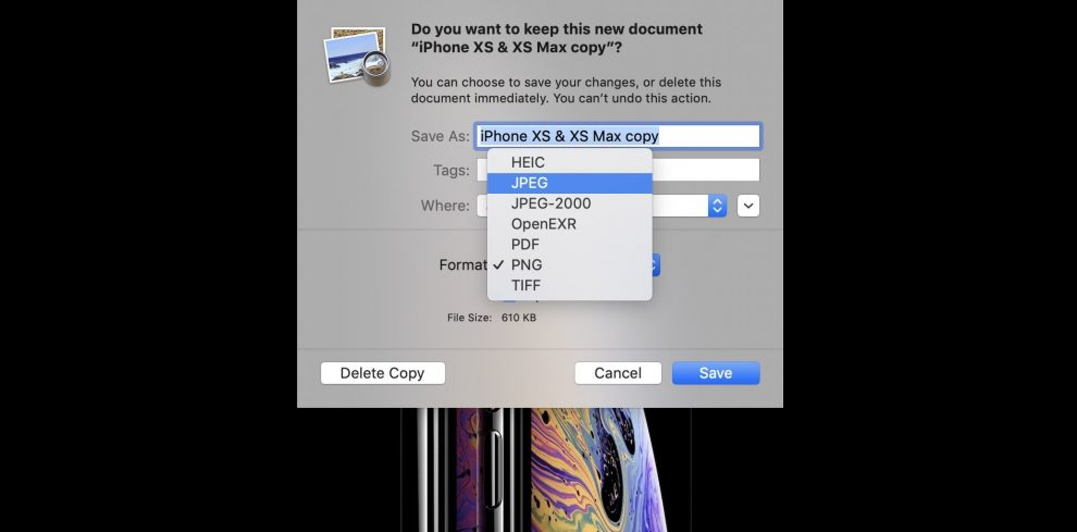 How To Convert PNG to JPG: Mac